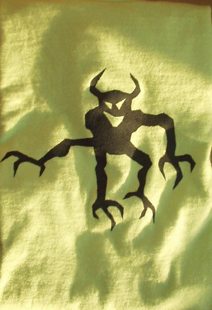 stenciled t-shirt