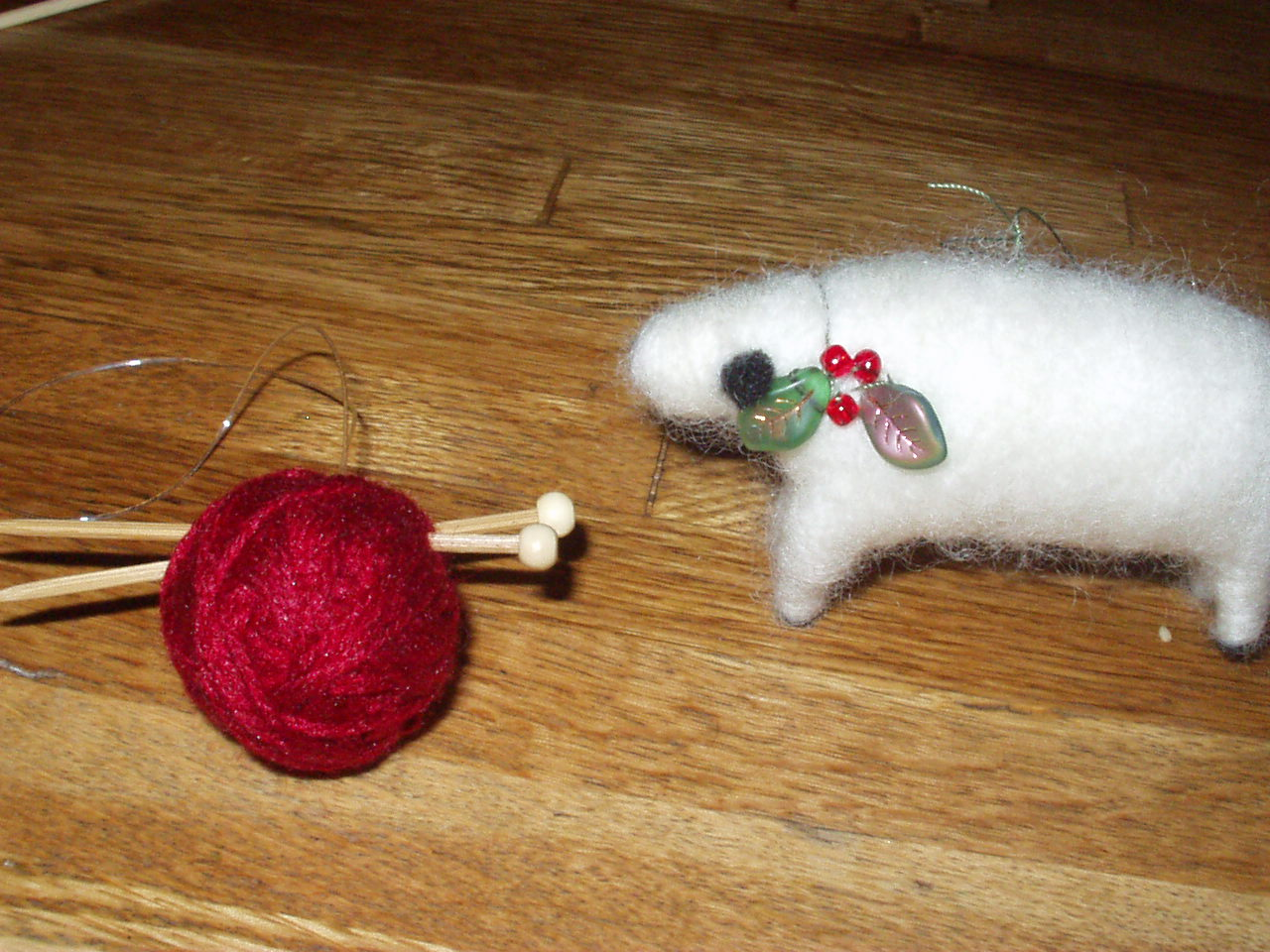 sheep & yarn ornaments
